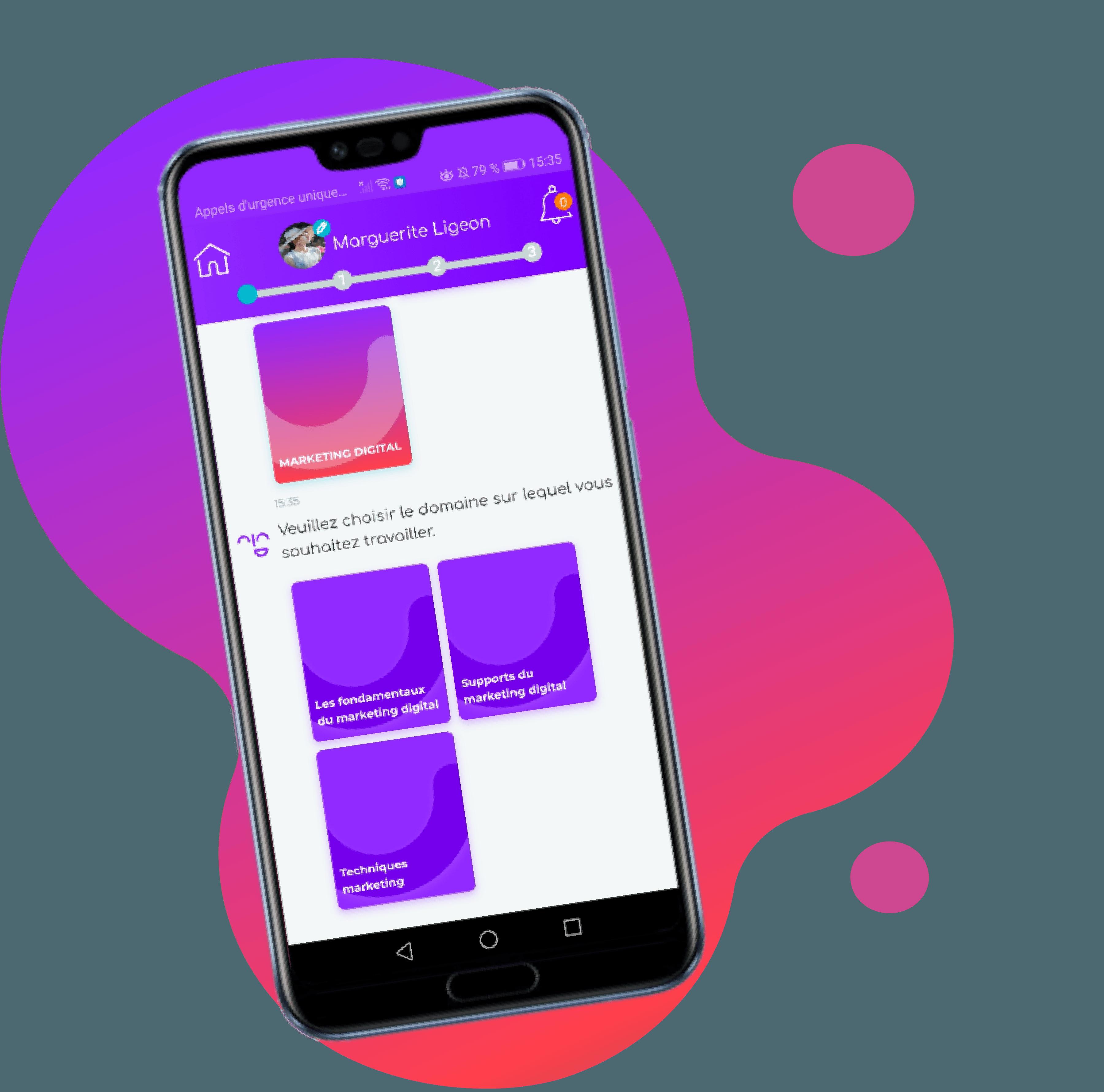 portable avec matrice marketing digital